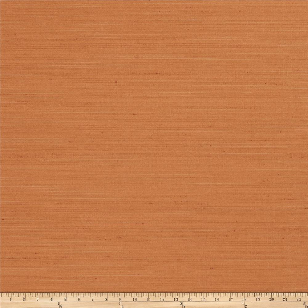 Fabricut Lochte Faux Dupioni Orange