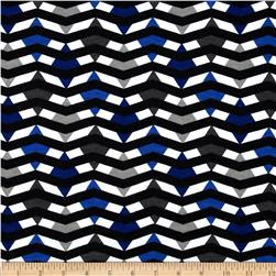 Fashionista Jersey Knit Diamond Chevron Blue