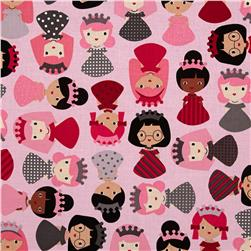 Girl Friends Little Girls Allover Sweet Pink Fabric