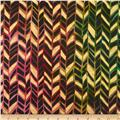 Indian Batik Metallic Broken Chevron Multi