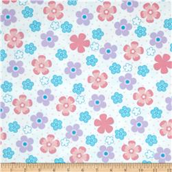 Robert Kaufman Cozy Cotton Flannel Daisy Flower Pastel