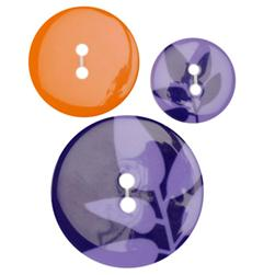 Fashion Buttons 3/4'', 1.00'', 1 3/8'' Coordinates Silhouette Purple