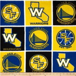 NBA Fleece San Francisco Golden State Warriors Block Blue/Yellow