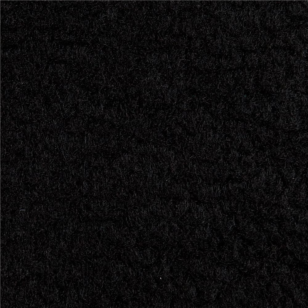 Warm Winter Fleece Solid Black Fabric By The Yard
