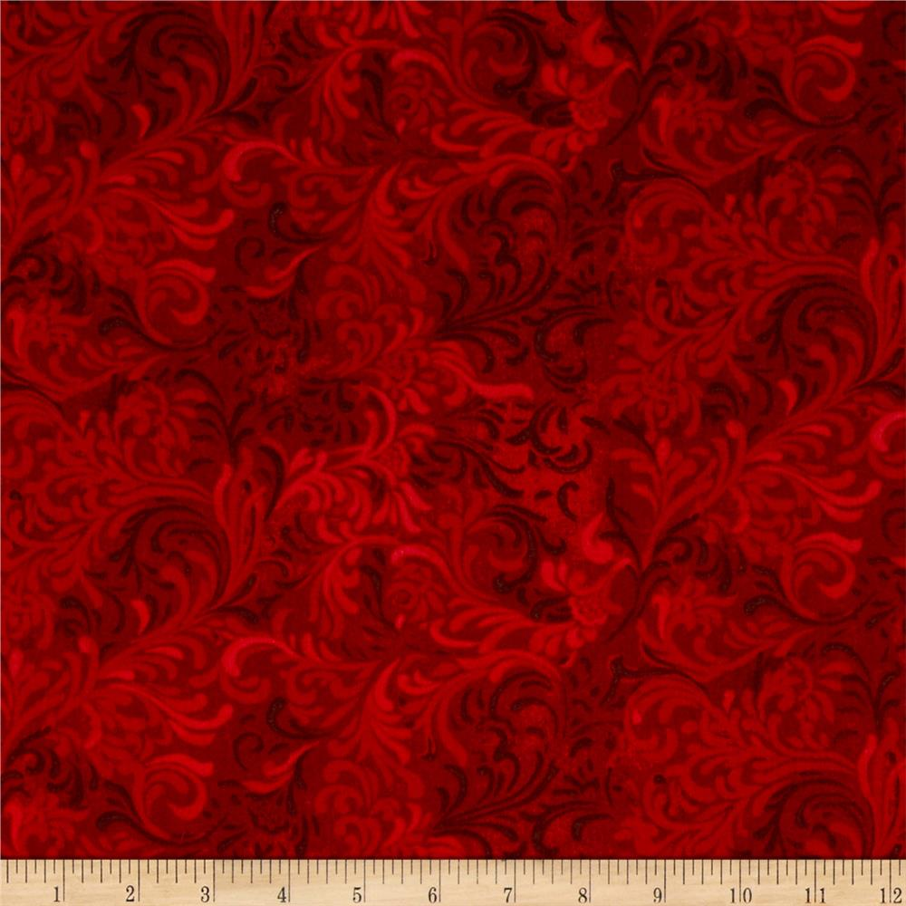 "Essentials 108"" Wide Quilt Back Flourish Red"