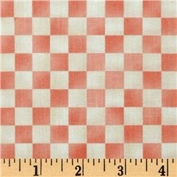 Graphix Checkered Cream/Light Pink Fabric