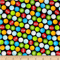 Be My Hero Stop And Go Dots Black