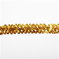 Stretch 7/8'' Holographic Sequin Trim Gold