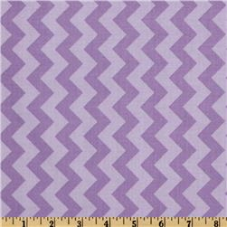 Riley Blake Chevron Small Tonal Lavender Fabric
