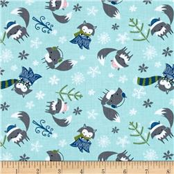 Winter Wonderland Foxes Rainwater