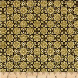Alchemy Metallic Tiles Black/Gold Fabric