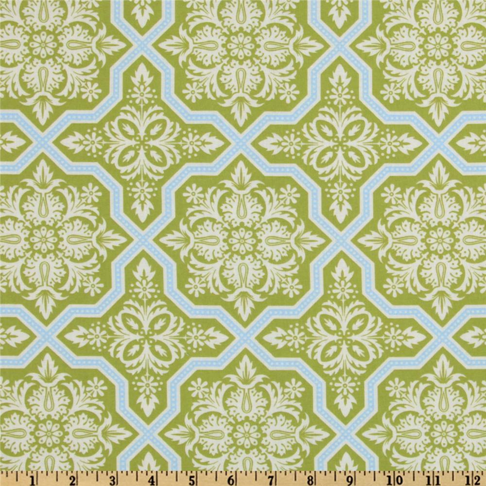 Joel Dewberry Heirloom Tile Flourish Green