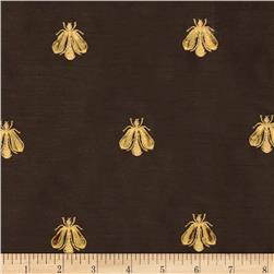 Tempo Embroidered Bumble Bee Taffeta Chocolate