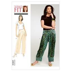 Vogue Misses' Pants Pattern V1307 Size OSZ
