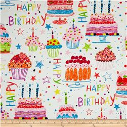 Alexander Henry Nicole's Prints Happy Birthday Natural