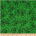 Loralie Designs Fairy Merry Christmas Elegant Scroll Green