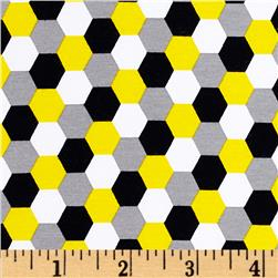 Laguna Stretch Cotton Jersey Honeycomb Yellow