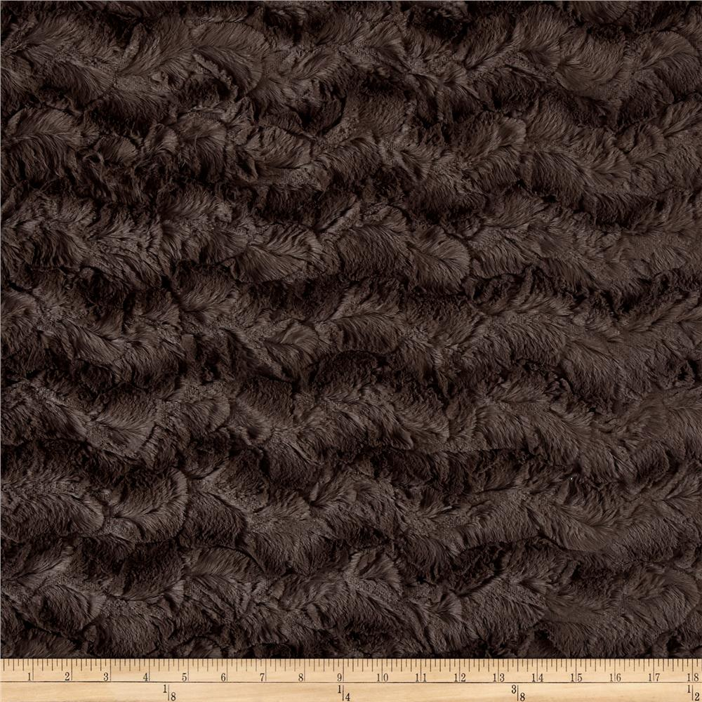 Michael Miller Minky Solid Bella Snuggle Charcoal