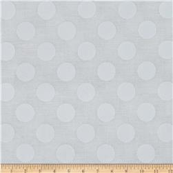 Michael Miller Ta Dot Snow Fabric