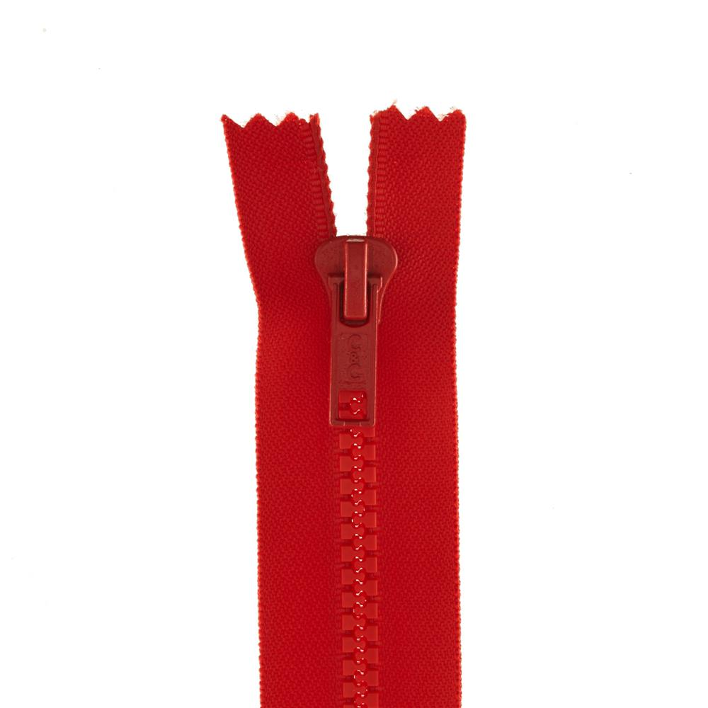 "Coats & Clark Closed Bottom Molded Zipper 7"" Atom Red"