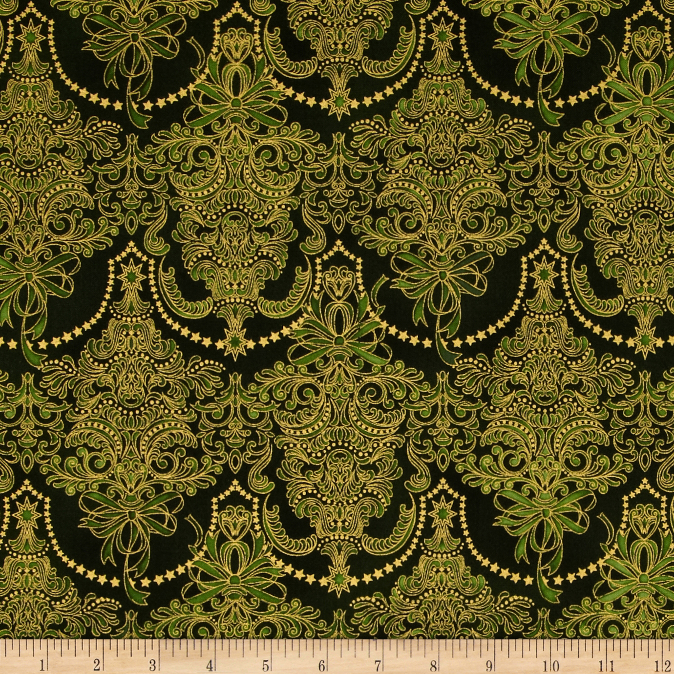 damask accents in green - photo #4