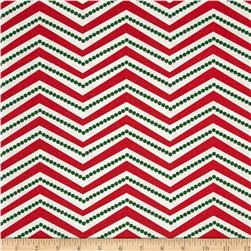 Christmas Basics Zig Zag Red