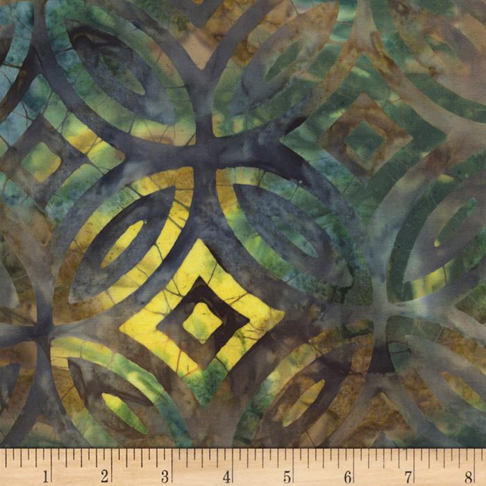 Timeless Treasures Tonga Batiks Lagoon Stained Glass Nature