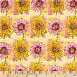 Every Living Thing Checkered Daisies Yellow/Pink