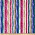 Timeless Treasures Romance Painted Stripe Multi
