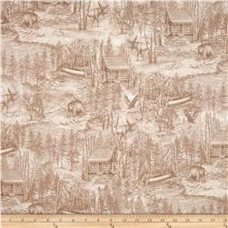 Into The Woods Scenic Toile Taupe