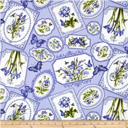 Botanical Blues Floral Patchwork Blue