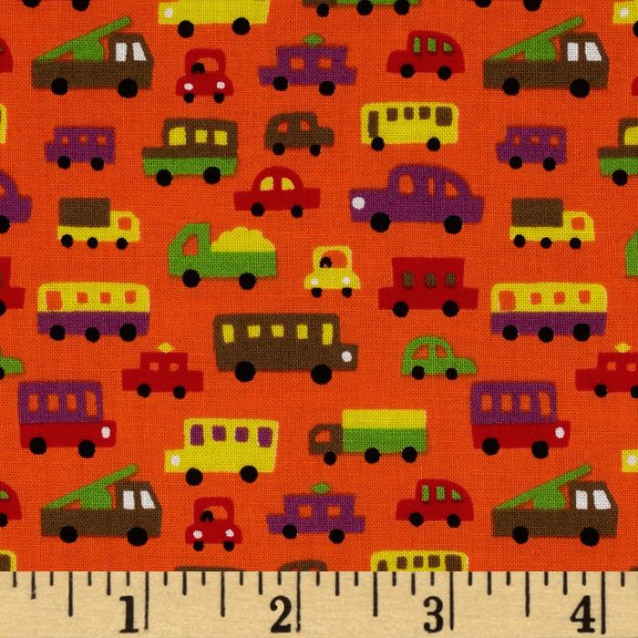 Tiny Prints Cars Orange/Multi
