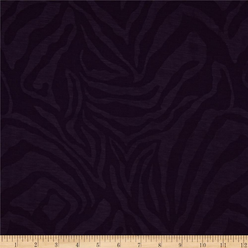 Shadow Ponte De Roma Knit Zebra Plum