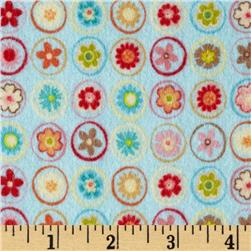 Riley Blake Happy Flappers Flannel Circles Blue