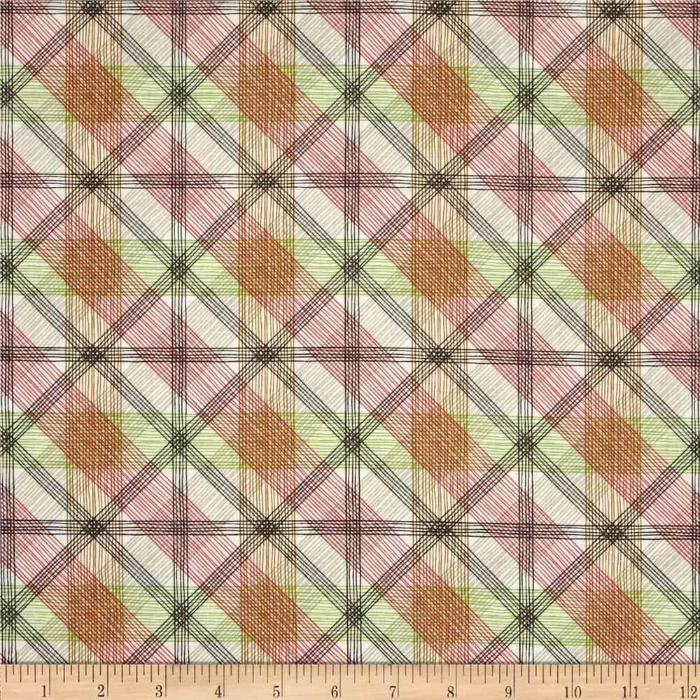Blend Natural Wonder Linear Plaid Coral