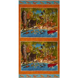 Moda Forest Friends Forest Scenic Panel Warm Multi