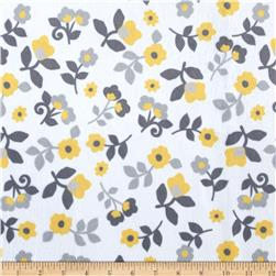 Minky Kashmir Floral Grey/Yellow