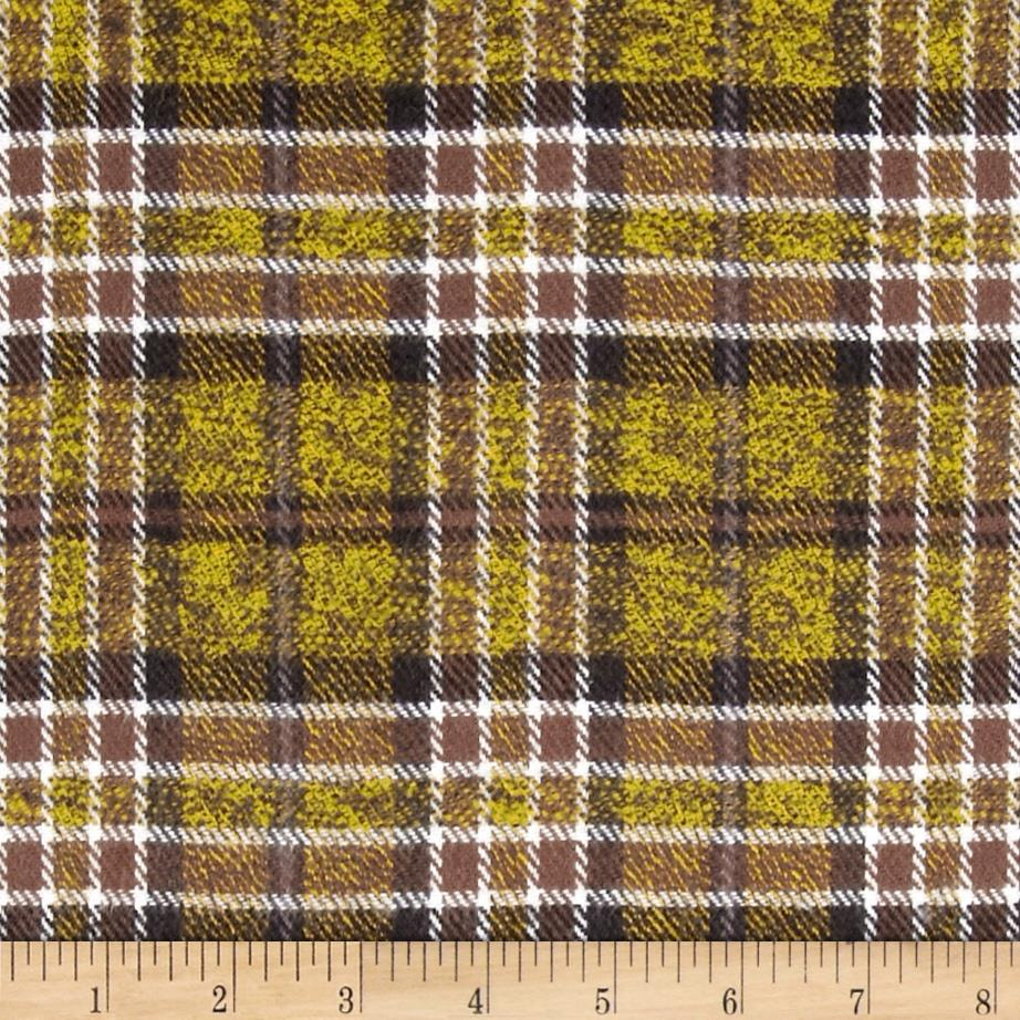 6 oz. Flannel Plaid Yellow/Brown