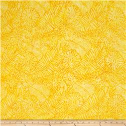 Timeless Treasures Tonga Batik Salsa Tropical Daisy
