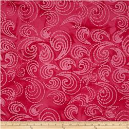 Indian Batiks Paisley Scroll Pink