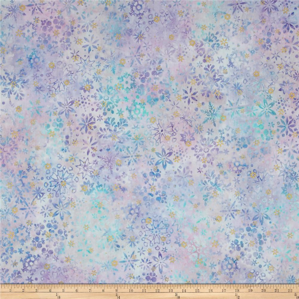 Kaufman Artisan Batiks Snowflake Metallic Collage Jewel