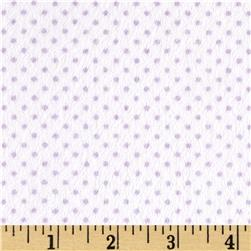 Minky Cuddle Classic Pin Dot Snow/Lilac