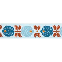 1 1/2'' Ribbon Blooms Blue