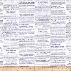 Baby Business Newspaper Purple