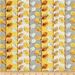 Sunshine Leaf Stripe Yellow/Gray
