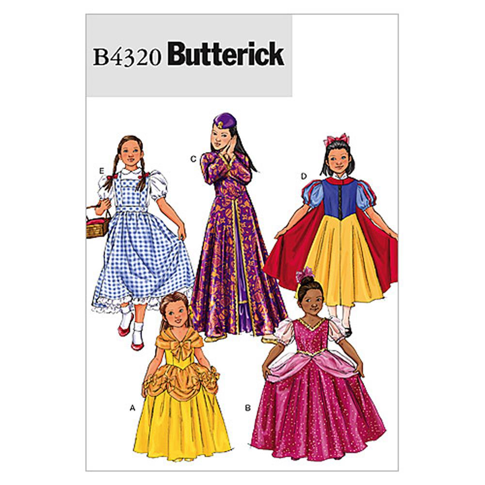 Butterick Children's/Girls' Costume Pattern B4320 Size CHI