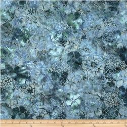 Bali Batiks Handpaints Mixed Floral Glacier