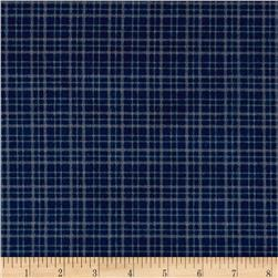 Mad for Plaid Flannel Mono Plaid Navy