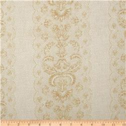 Lovely Lace Stripe Champagne