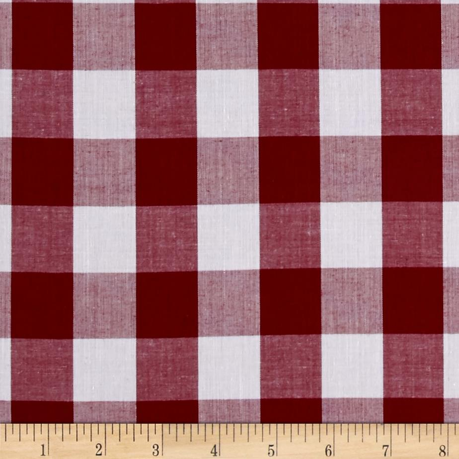 "Richcheck 60"" Gingham Check 1"" Berry"